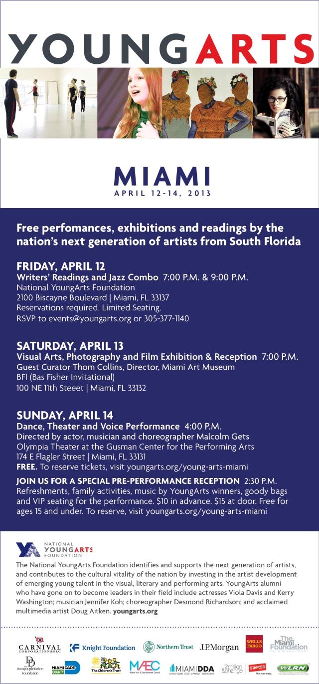 YoungArts Miami 2013 e-invitation Proofed