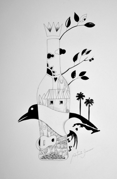 Facundo Bacardi- Black and white and Cuba Island by Guerrero