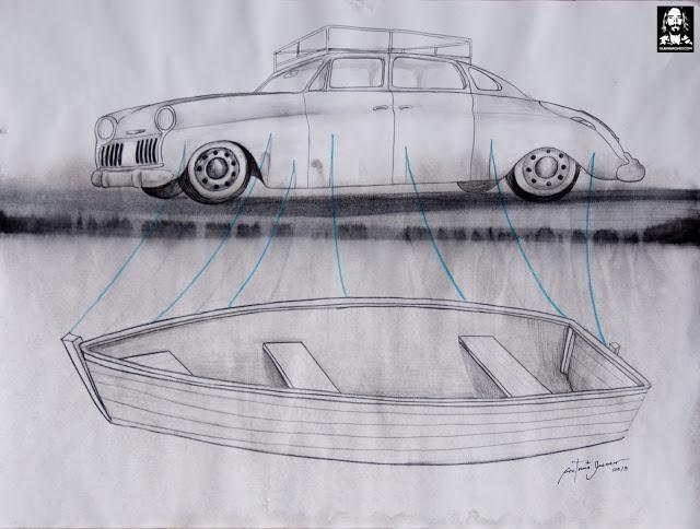 Antonio Guerrero, cuban art, arte cubano, contemporary cuban artist, bananas, car, vote,tronco espinado-2