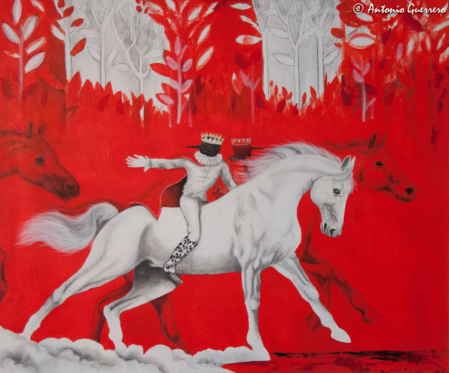 Antonio Guerrero, Red Art, arte rojo, caballos,cuban art, arte cubano,azucar,horses,cuban artist.