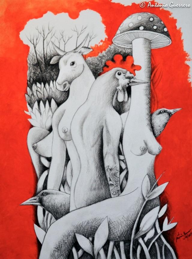 Antonio-Guerrero,-Cuban-Artist,-Arte-Cubano,-Red-Art.-Arte-rojo.-2