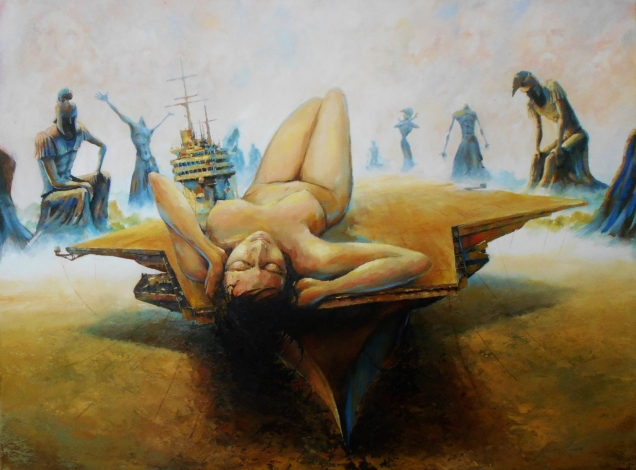 "Arien Xuan Lopez Carrier U.S.A. Oil on Canvas 36"" x 48"""