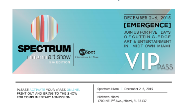 Spectrum:  Download your Complimentary VIP Pass!
