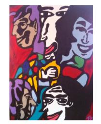 Title: El Circo Dimensions: 40 X 30 Acrylic on Canvas