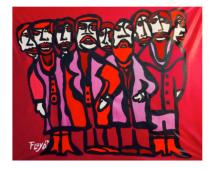 Title: La Familia Dimensions: 58 X 60 Acrylic on Canvas