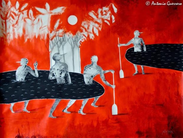 Arte rojo, red art, antonio guerrero, cuban art, arte cubano